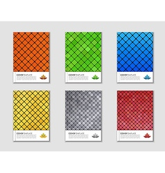 Covers with mosaic texture vector