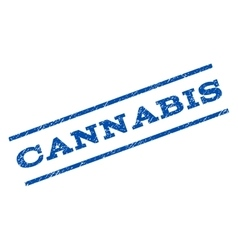Cannabis watermark stamp vector