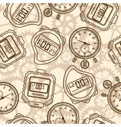 Stopwatch Seamless vector image