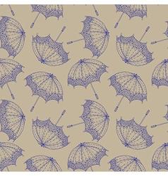 Seamless beautiful retro umbrella vector