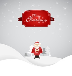 Winter Christmas scene with place for your text vector image