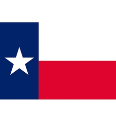 Flag of texas vector