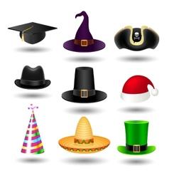 Party hat set vector