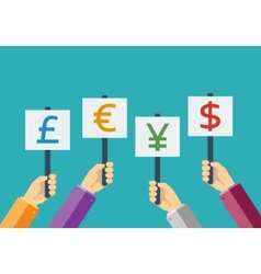 Business currency flat vector