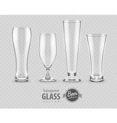 Glasses glasses for beer vector