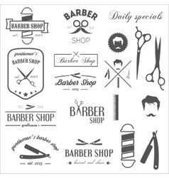 Collection of vintage retro labels logotypes and vector