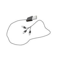Universal Serial Bus Cable on White Background vector image