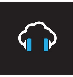 Cloud music concept icon vector