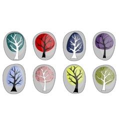 abstract background with trees vector image