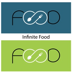 Food and infinity icon vector