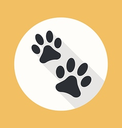 Paw flat icon vector