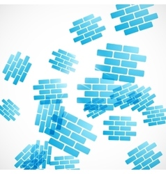 Abstract background brick vector