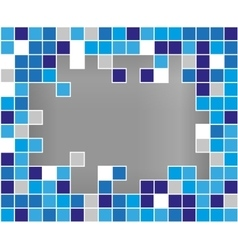 Abstract background broken mozaic vector image