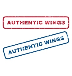Authentic wings rubber stamps vector