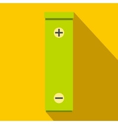 Battery icon flat style vector image