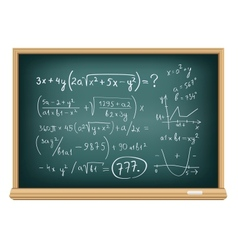 board difficult equations vector image