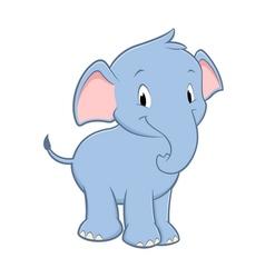 Cartoon Baby Elephant vector image