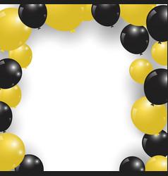 Celebration festive gold and black balloons vector