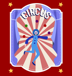 Circus flat colorful poster vector