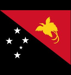 Colored flag of papua new guinea vector