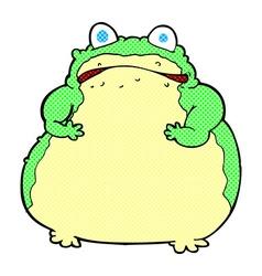 Comic cartoon fat toad vector