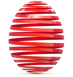 Easter egg ribbon isolated on white vector