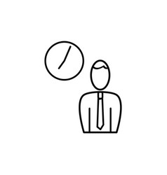 employee business time icon vector image vector image