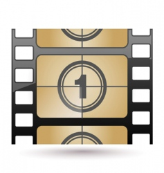 film icon countdown vector image vector image