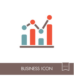 Graph in trendy outline icon finances sign vector