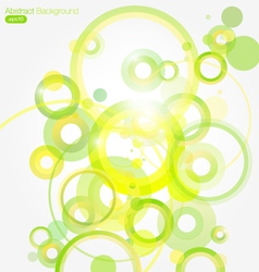 Green Abstract Colorful background vector image