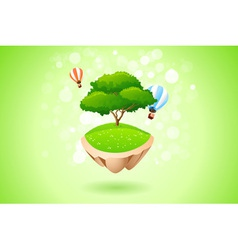Green lonely tree vector