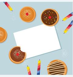Happy hanukkah- traditional jewish holiday vector