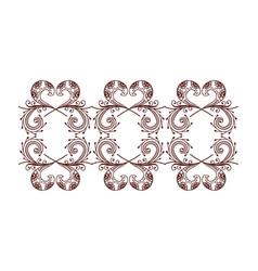 Henna tattoo mehndi flower template vector