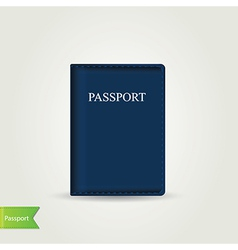 Passport cover isolated vector
