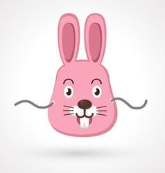rabbit mask vector image vector image