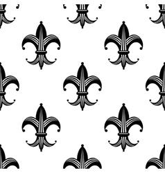 Seamless stylized fleur de lys pattern vector