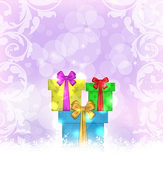 Set Christmas gift boxes vector image vector image