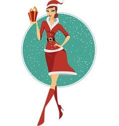 Sexy girl Santa vector image vector image
