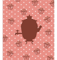 Silhouette of a Russian samovar vector image vector image