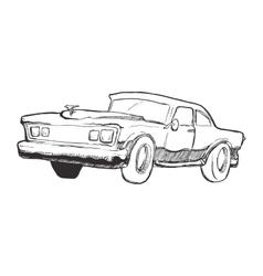 Sketch car icon transportation design vector