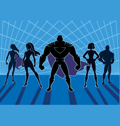Superhero team 2 vector