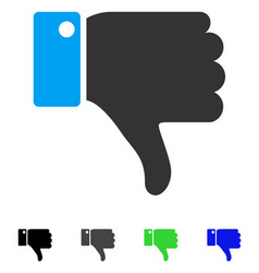 Thumb down flat icon vector