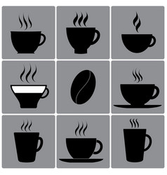 Types of cups vector