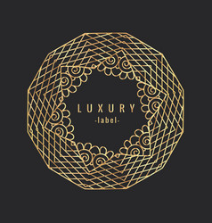 Vintage luxury golgen ornament vector