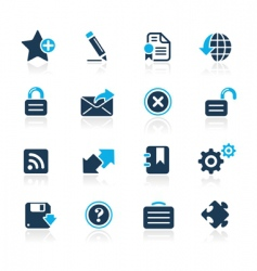 web 20 icons vector image