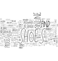 Where to find shoes sold at a discount text word vector