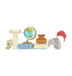History class set of objects vector