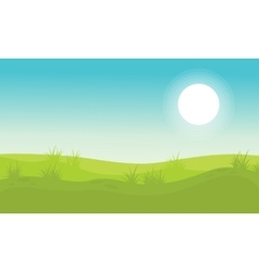 Background hill beauty landscape vector