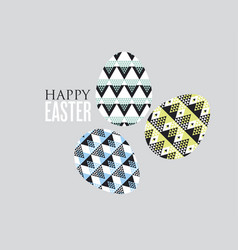 tribal geometry concept easter egg decoration of vector image