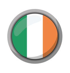st patricks day irish flag emblem vector image
